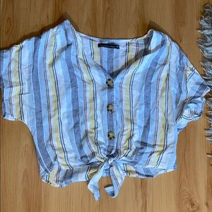 Adorable striped tie shirt!